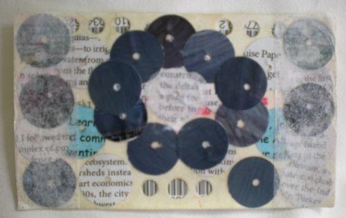 blue circles postcard