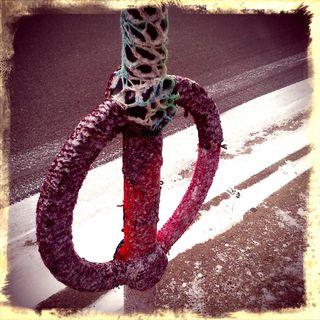 Knitted Bike Rack
