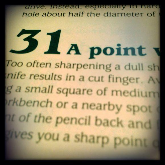 31 a sharp point